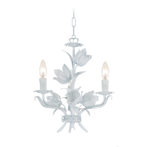 Crystorama Lighting Mini-Chandelier in Wet White Finish 4813-WW