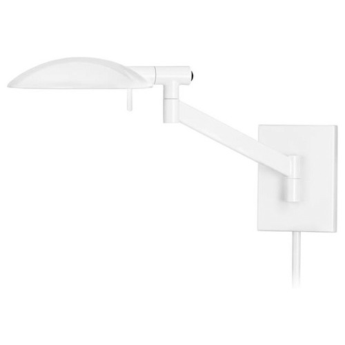 Sonneman Lighting Modern Swing Arm Lamp with White Shade in Gloss White Finish 7085.60