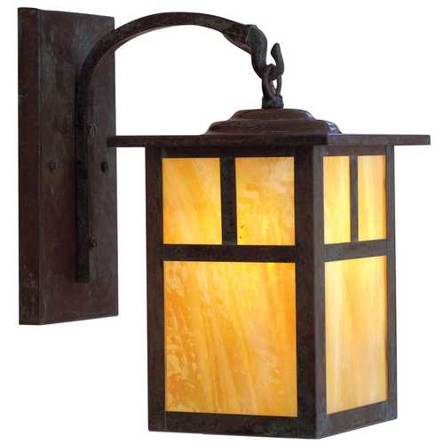 Arroyo Craftsman Lighting 11-5/8-Inch Outdoor Wall Light MB-7T-MB-GW