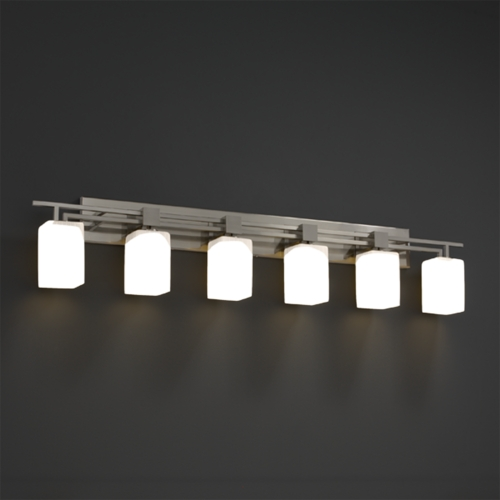 Justice Design Group Justice Design Group Fusion Collection Bathroom Light FSN-8706-15-RBON-NCKL