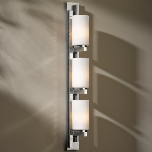 Hubbardton Forge Lighting Ondrian Vintage Platinum Bathroom Light - Vertical Mounting Only 206315R-82-G168