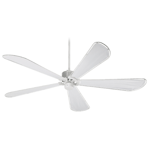 Quorum Lighting Quorum Lighting Dragonfly Patio Studio White Ceiling Fan Without Light 159725-8