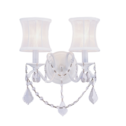Livex Lighting Livex Lighting Newcastle White Sconce 6302-03