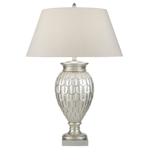 Fine Art Lamps Fine Art Lamps Recollections Antiqued, Gold-Stained Silver Leaf Table Lamp with Empire Shade 829210ST