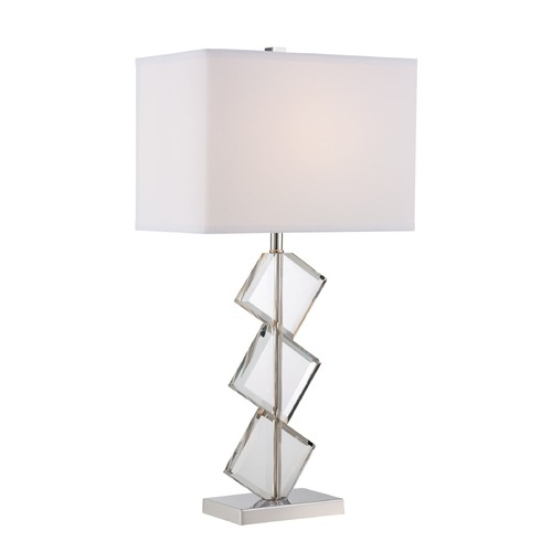 Lite Source Lighting Lite Source Toussaint Polished Steel Table Lamp with Rectangle Shade LS-22692