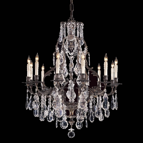 Metropolitan Lighting Crystal Chandelier in Oxide Brass Finish N950201