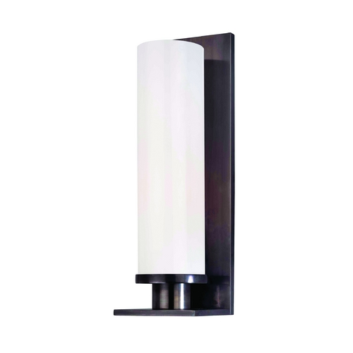 Hudson Valley Lighting Modern Sconce with White Glass in Old Bronze Finish 420-OB