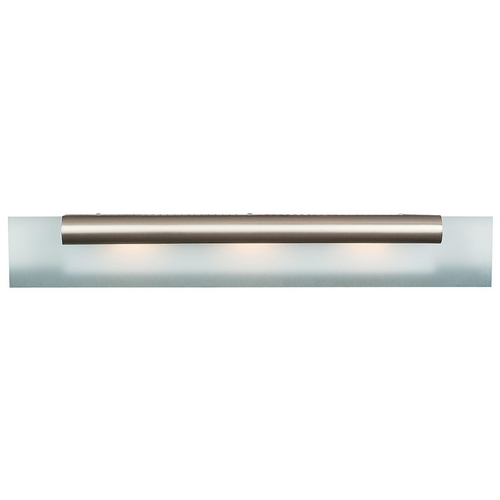 Access Lighting Modern Bathroom Light with White Glass in Satin Nickel Finish 62063-SC/FST
