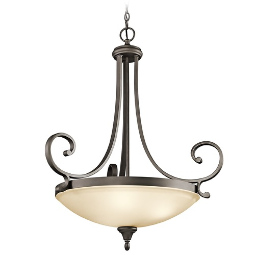 Kichler Lighting Kichler Pendant Light with Amber Glass in Olde Bronze Finish 43164OZ