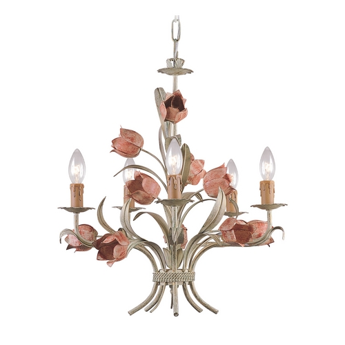 Crystorama Lighting Crystal Mini-Chandelier in Sage/rose Finish 4805-SR