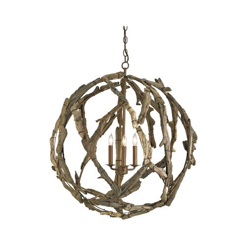 Currey and Company Lighting Pendant Light in Natural Finish 9078