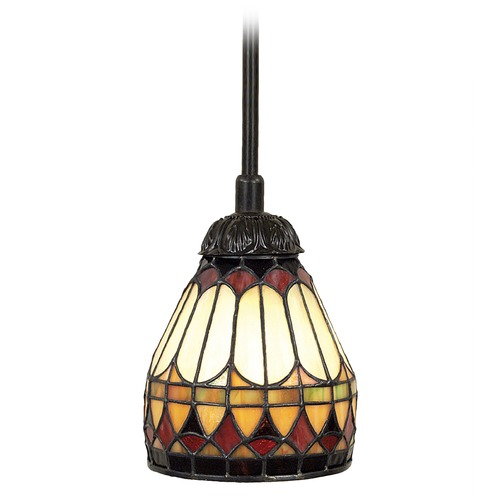 Quoizel Lighting Tiffany Glass Mini-Pendant Light in Bronze Finish TF1541VB