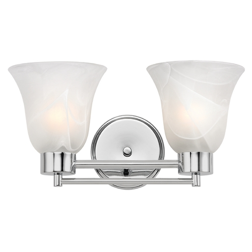 Design Classics Lighting Modern Bathroom Light with Alabaster Glass in Chrome Finish 702-26 GL9222-ALB