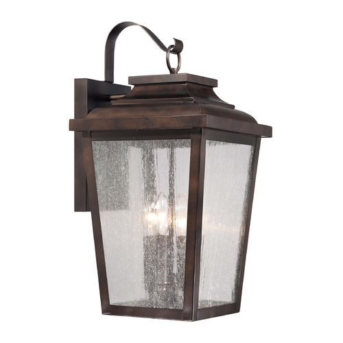 Minka Lighting Outdoor Wall Light with Clear Glass in Chelesa Bronze Finish 72173-189