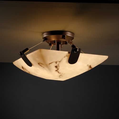 Justice Design Group Justice Design Group Lumenaria Collection Semi-Flushmount Light FAL-9610-25-DBRZ