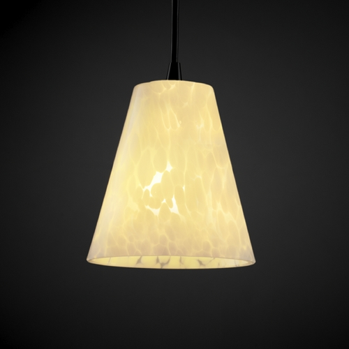 Justice Design Group Justice Design Group Fusion Collection Mini-Pendant Light FSN-8815-50-DROP-MBLK