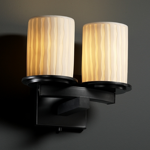 Justice Design Group Justice Design Group Limoges Collection Sconce POR-8775-10-WFAL-MBLK