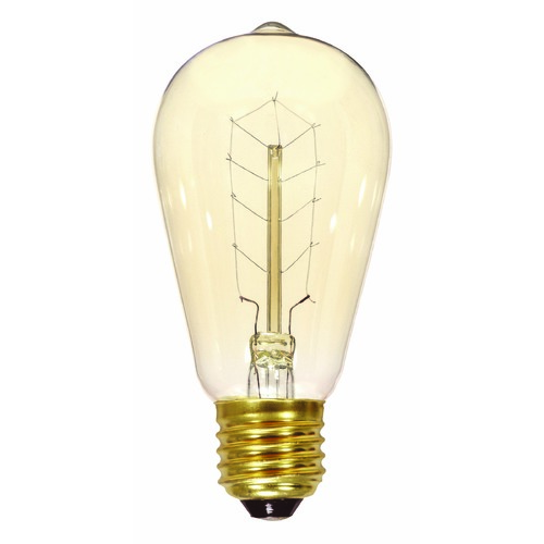 Satco Lighting Incandescent ST19 Light Bulb Medium Base 120V by Satco S2414