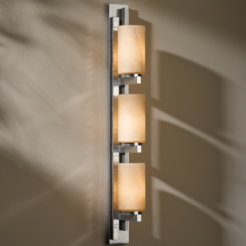 Hubbardton Forge Lighting Ondrian Vintage Platinum Bathroom Light - Vertical Mounting Only 206315R-82-H168
