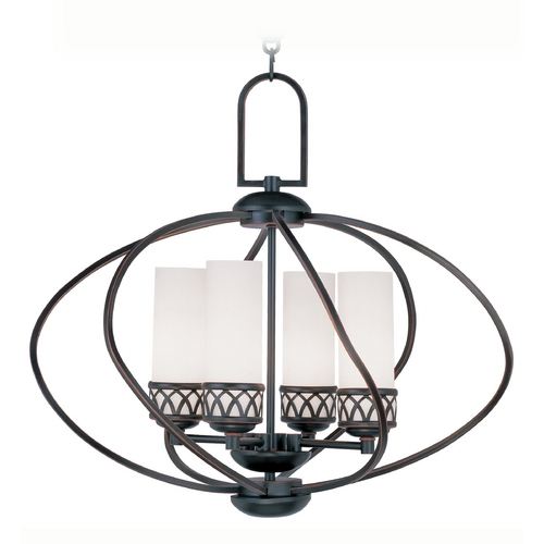 Livex Lighting Livex Lighting Westfield Olde Bronze Pendant Light with Cylindrical Shade 4724-67