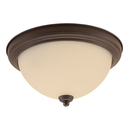 Sea Gull Lighting Sea Gull Lighting Ceiling Flush Mount Misted Bronze LED Flushmount Light 7716591S-814