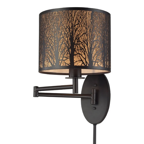 Elk Lighting Elk Lighting Woodland Sunrise Oil Rubbed Bronze Swing Arm Lamp 31069/1