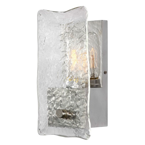 Uttermost Lighting Uttermost Cheminee 1 Light Textured Glass Sconce 22498