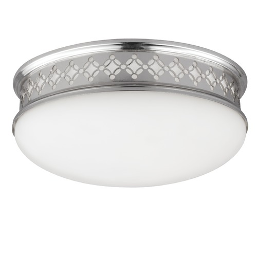 Feiss Lighting Feiss Lighting Devonshire Polished Nickel LED Flushmount Light FM421PN-LED