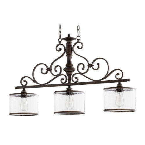 Quorum Lighting Seeded Glass Island Light Copper Quorum Lighting 6573-3-39