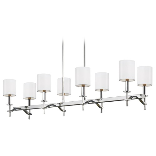 Sea Gull Lighting Sea Gull Lighting Hewitt Polished Nickel Island Light with Cylindrical Shade F3312/8PN