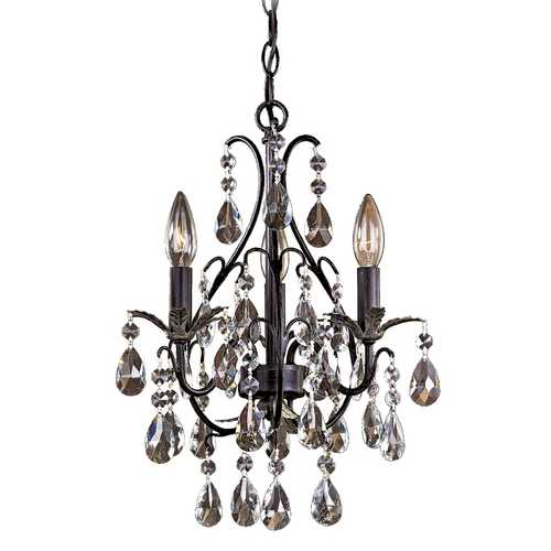 Minka Lavery Mini-Chandelier in Castlewood Walnut W/silver Highlights Finish 3122-301