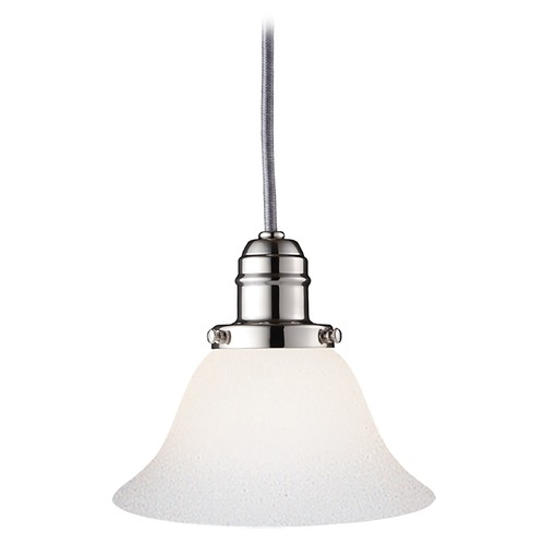 Hudson Valley Lighting Mini-Pendant Light with White Glass 3102-PN-415M