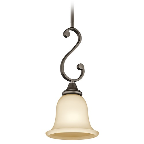 Kichler Lighting Kichler Mini-Pendant Light with Amber Glass 43162OZ