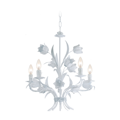 Crystorama Lighting Mini-Chandelier in Wet White Finish 4815-WW