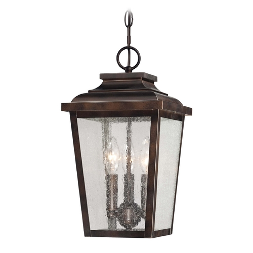 Minka Lavery Outdoor Hanging Light with Clear Glass in Chelesa Bronze Finish 72174-189