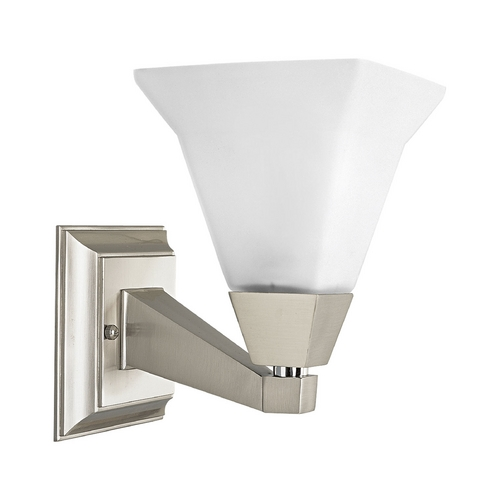 Progress Lighting Arts and Crafts / Craftsman Sconce Brushed Nickel Glenmont by Progress Lighting P3135-09