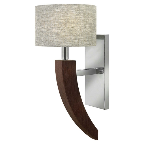 Frederick Ramond Sconce Wall Light with Beige / Cream Shade in Polished Chrome Finish FR42340PCM