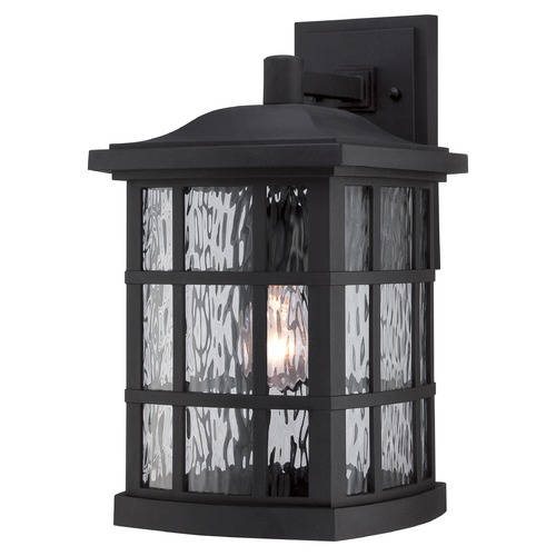 Quoizel Lighting Quoizel Stonington Mystic Black Outdoor Wall Light SNN8409KFL