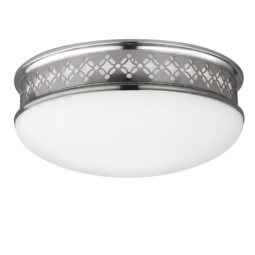 Feiss Lighting Feiss Lighting Devonshire Polished Nickel LED Flushmount Light FM422PN-LED
