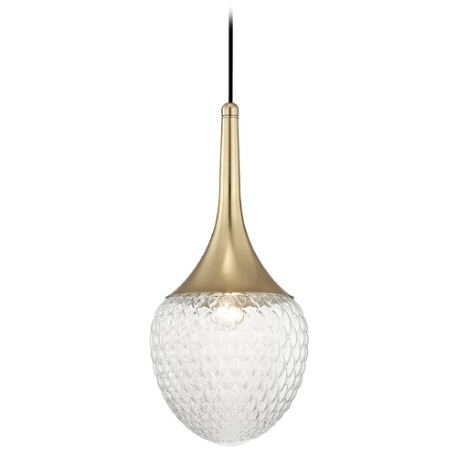Mitzi by Hudson Valley Mid-Century Modern Pendant Light Brass Mitzi Bella by Hudson Valley Lighting H114701B-AGB