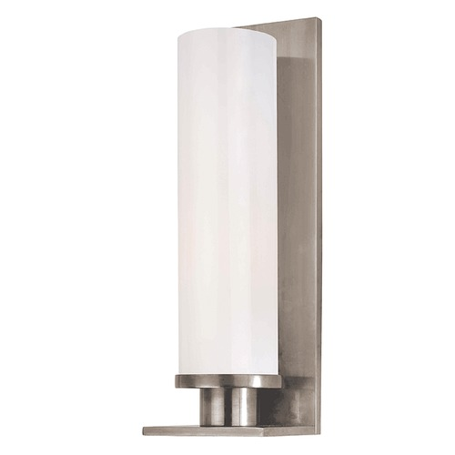 Hudson Valley Lighting Modern Sconce with White Glass in Polished Chrome Finish 420-PN