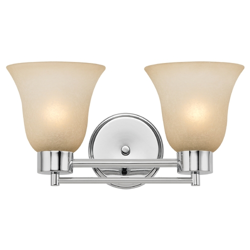 Design Classics Lighting Modern Bathroom Light with Brown Art Glass in Chrome Finish 702-26 GL9222-CAR