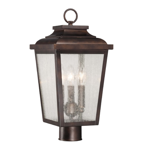 Minka Lavery Post Light with Clear Glass in Chelesa Bronze Finish 72176-189