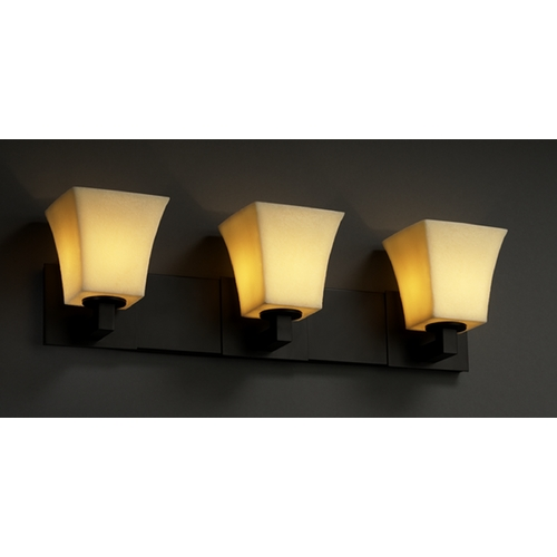 Justice Design Group Justice Design Group Candlearia Collection Bathroom Light CNDL-8923-40-AMBR-MBLK