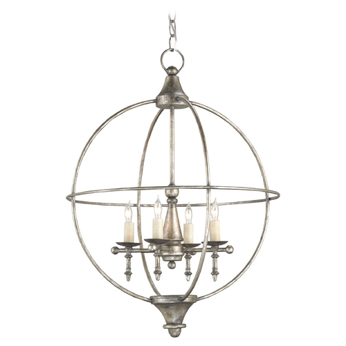 Currey and Company Lighting Currey and Company Lighting Dirty Silver Pendant Light 9425