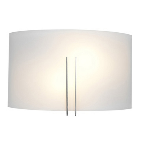 Access Lighting Access Lighting Prong Brushed Steel Sconce C20447BSWHTEN1218B