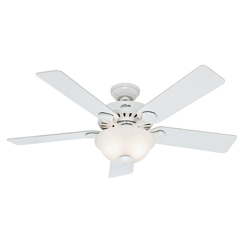 Hunter Fan Company Hunter Fan Company Five Minute Fan White Ceiling Fan with Light 53251