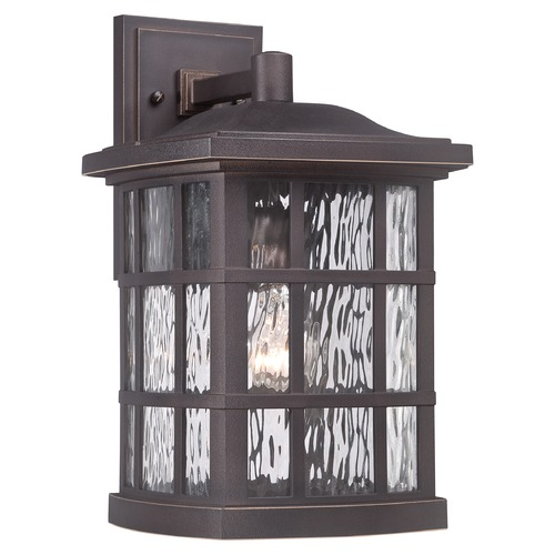 Quoizel Lighting Quoizel Stonington Palladian Bronze Outdoor Wall Light SNN8409PNFL