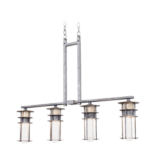 Kalco Lighting Seeded Glass Island Light Iron Kalco Lighting 7295RI