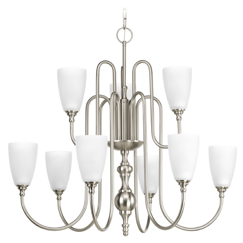 Progress Lighting Progress Lighting Revive Brushed Nickel Chandelier P4236-09